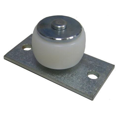 HBS Roulette de guidage extérieur pour portails coulissants avec plaque
