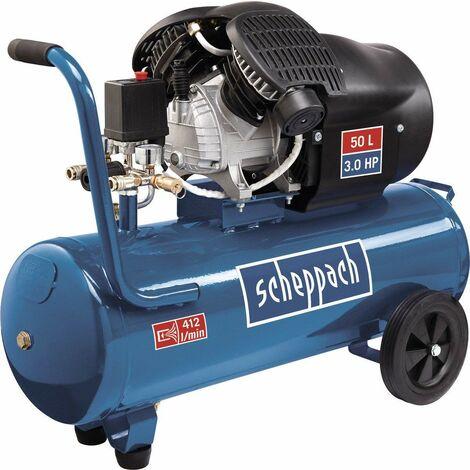 HC53DC Compresor de Aire de 2 cilindros. 2200W 3CV 50L - Scheppach - 5906102901