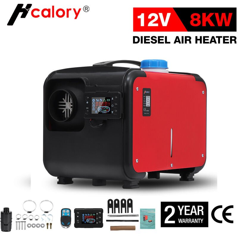 HCalory 5-8KW 12V Diesel Auto Chauffage d'Air LCD