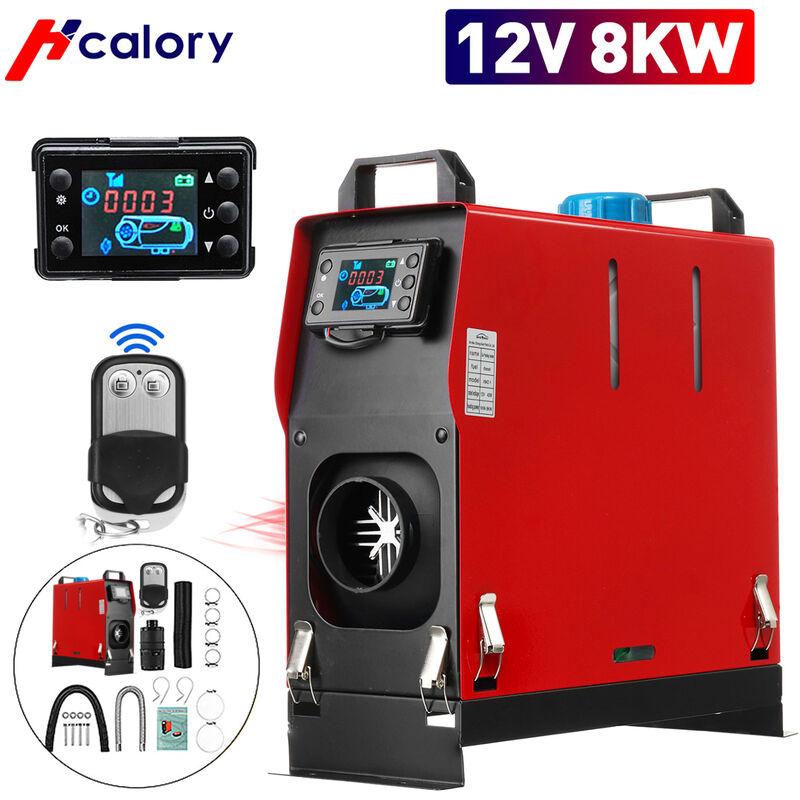 HCalory 5-8KW 12V Diesel Chauffage d'air de voiture LCD Réchauffeur d'air Réchauffeur de stationnement