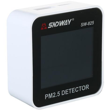 HD LED Pantalla digital Analizador de calidad del aire, Detector PM2.5, Monitor de gas