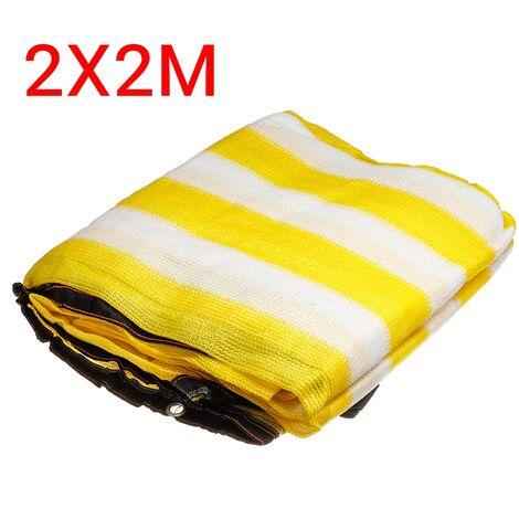 HDPE Anti-UV Sunshade Net Garden Car Sunscreen Cloth 90% Shading Rate Yellow+White