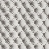 Headboard Wallpaper Cushioned Faux Leather Luxury Arthouse Silver/Blush