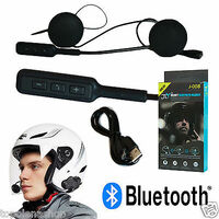 Headset Microfono Auricolare Bluetooth Impermeabile Per Casco Moto Mp3