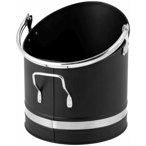 """main image of """"Hearth & Home Metal Coal Hod With Chrome Handles - HH53"""""""