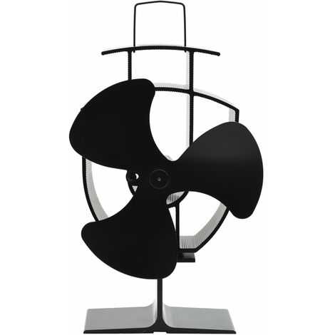 Heat Powered Stove Fan 3 Blades Black - Black