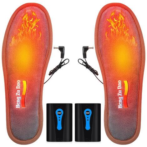 Heated electrico de la plantilla del pie calentadores Hombres Mujeres con pilas climatizada plantillas caliente del invierno de las plantillas del zapato de Trabajo Para Esqui que va de excursion, la UE 44