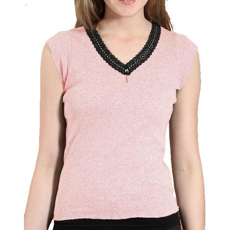 Heatguard Ladies Cap Sleeve Thermal Lace Trim Vest Underwear Winter Baselayer
