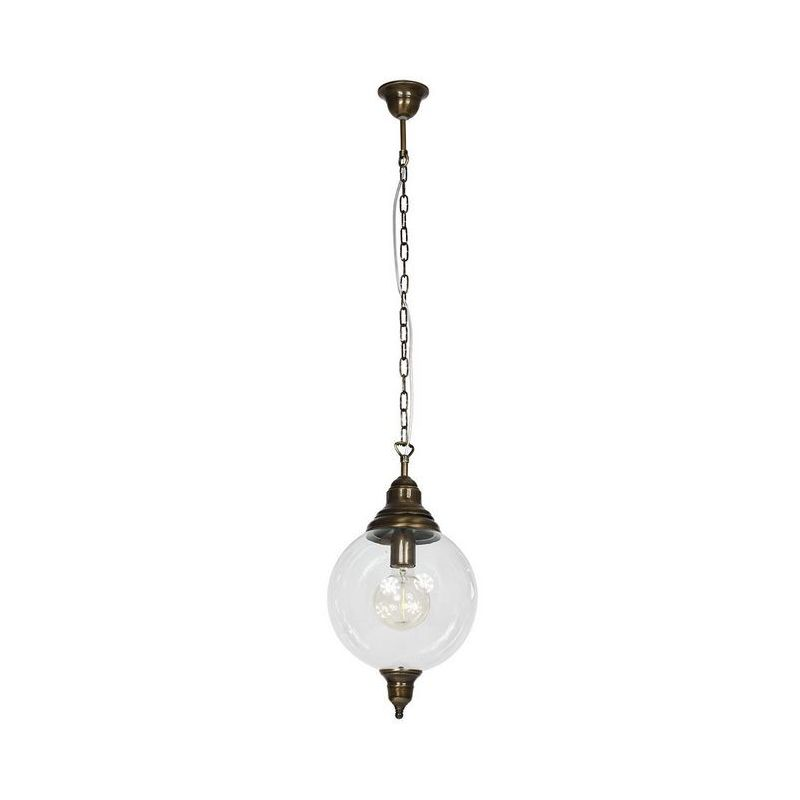 Homemania - Heather Haengelampe - Kronleuchter - Deckenkronleuchter - Dunkelbraun aus Metall, Glas, 25 x 25 x 110 cm, 1 x E27, 60W