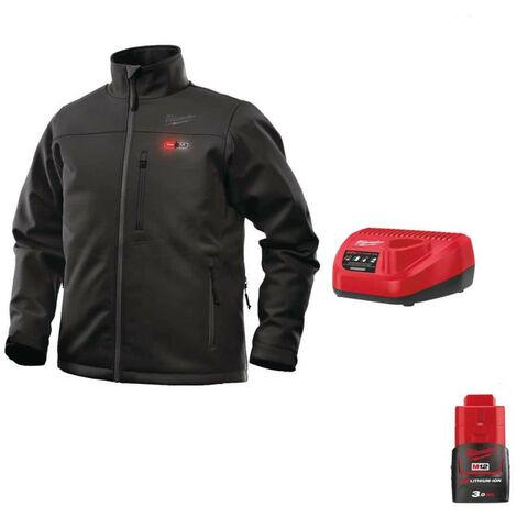 Heating jacket Milwaukee Black M12 HJBL4-0 Size M 4933464323 - Battery charger 12V M12 C12 C - Battery M12 12V 3.0Ah
