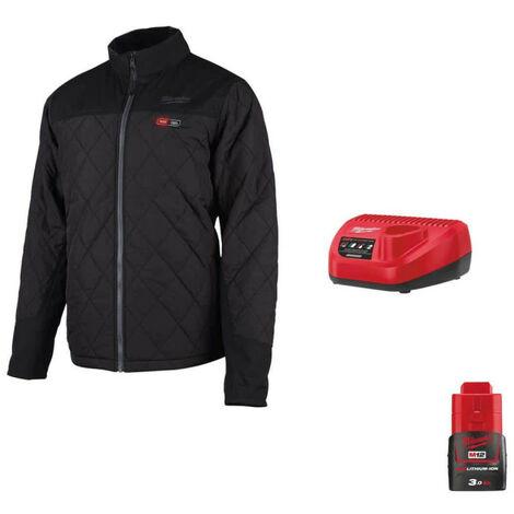 Heating jacket Milwaukee M12 HJP-0 Size XXL 4933464368 - Charger 12V M12 C12 C - Battery M12 12V 3.0Ah