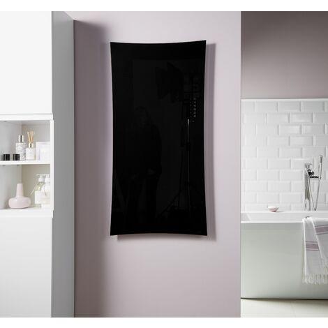 Heating Style Vetro Frame Electrical 1000X500mm Glass Towel Warmer 700W Black