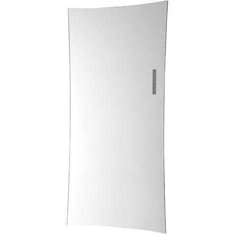Heating Style Vetro Soap Electrical 1380X500mm Glass Towel Warmer 700W Black