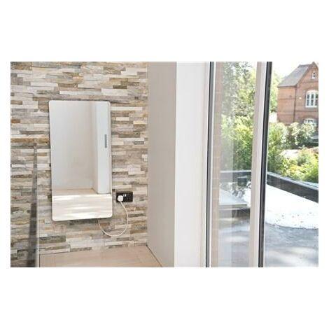 Heating Style Vetro Star Electrical 1063X532mm Glass Towel Warmer 700W Black