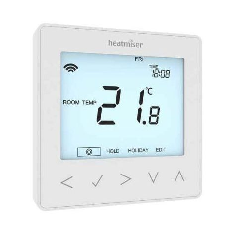 Heatmiser neoStat-e V2 - Electric Floor Heating Thermostat Glacier White