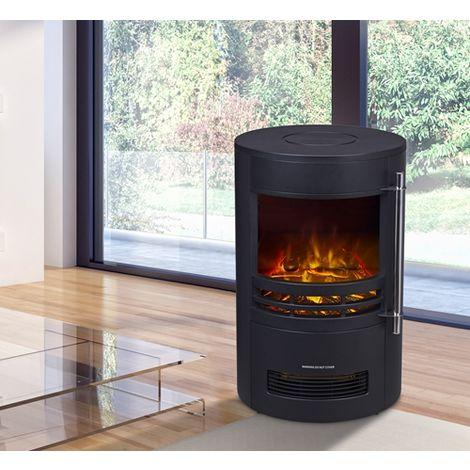 HEATSURE Fireplace Heater 189 Black