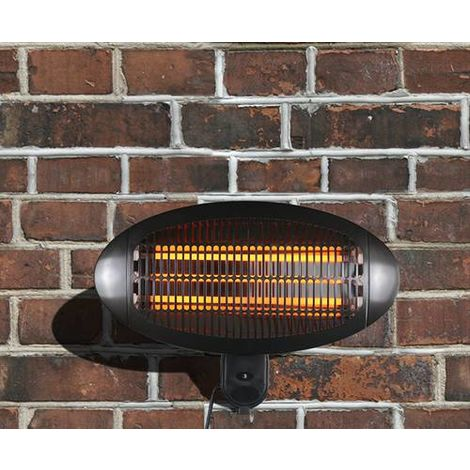 HEATSURE Patio Heater Wall Mounted 2000DI Black