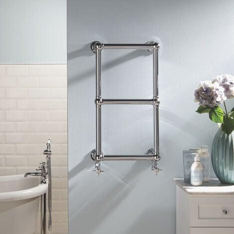 "main image of ""Heatwave Aldworth Traditional Towel Rail 700mm H x 500mm W - Chrome"""