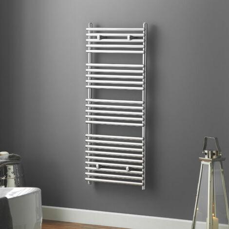 Heatwave Iridio Electric Designer Towel Rail 1200mm H x 500mm W - Chrome