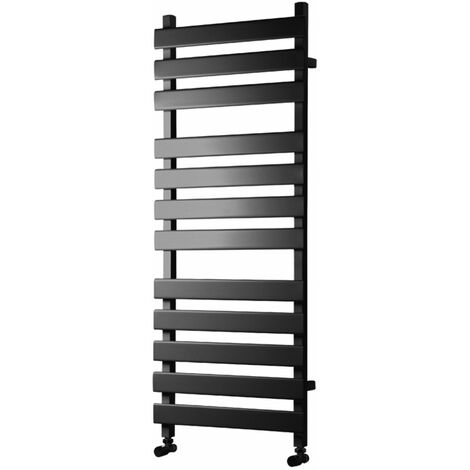 Heatwave Perlo Flat Panel Heated Towel Rail 1200mm H x 500mm W - Anthracite