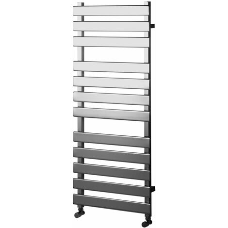 Heatwave Perlo Flat Panel Heated Towel Rail 1200mm H x 500mm W - Chrome