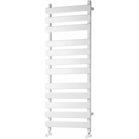 Heatwave Perlo Flat Panel Heated Towel Rail 1200mm H x 500mm W - White