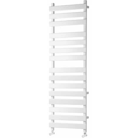 Heatwave Perlo Flat Panel Heated Towel Rail 1500mm H x 500mm W - White