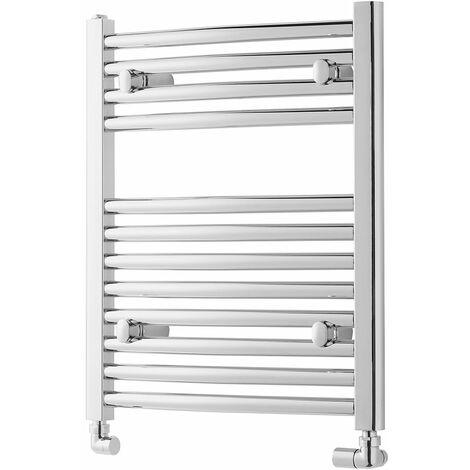 "main image of ""Heatwave Pisa Straight Heated Towel Rail - 600mm H x 600mm W - Chrome"""