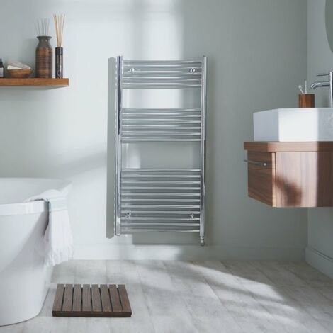Heatwave Richmond Electric Straight Towel Rail 1186mm H x 450mm W - Chrome