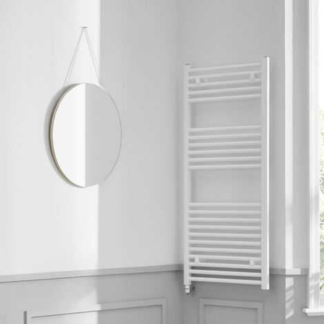 Heatwave Richmond Electric Straight Towel Rail 1186mm H x 450mm W - White