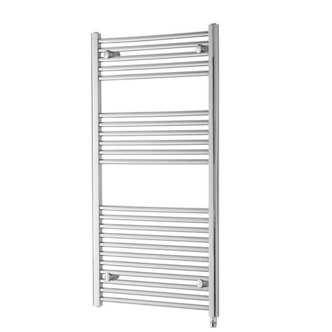 Heatwave Richmond Electric Straight Towel Rail 691mm H x 600mm W - Chrome