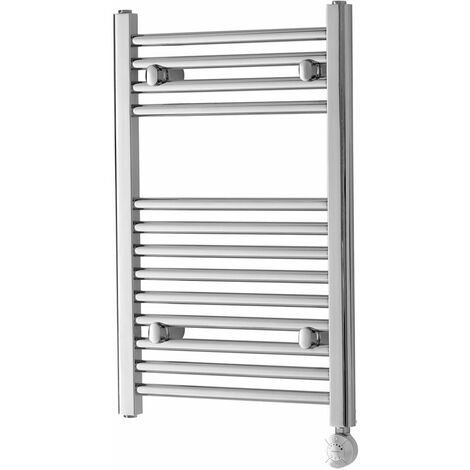 Heatwave Richmond Thermostatic Electric Straight Towel Rail 691mm H x 450mm W - Chrome
