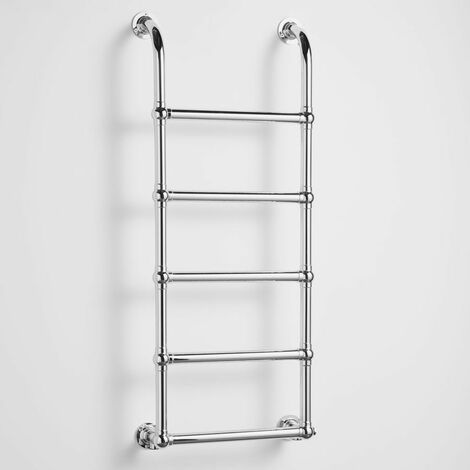 Heatwave Upton Victorian Traditional Towel Rail 1200mm H x 500mm W - Chrome