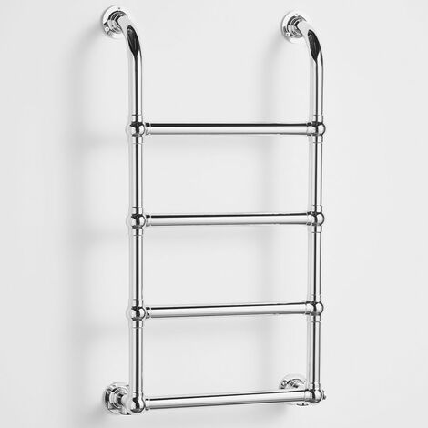 Heatwave Upton Victorian Traditional Towel Rail 900mm H x 500mm W - Chrome