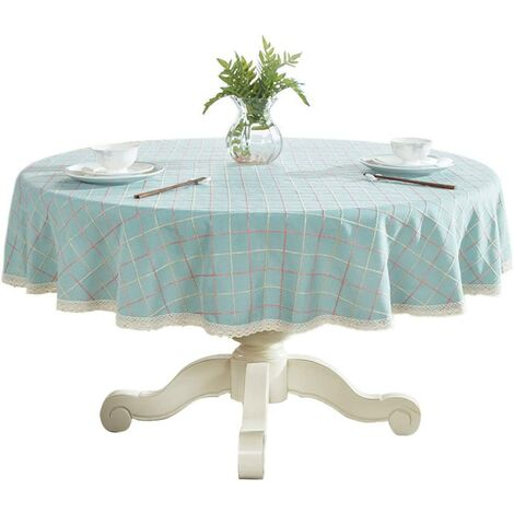 """Heavy Cotton Cotton Lace Lace Round Round Table for Kitchen Dining Kitchen Table Decoration, 48 """"- Round, Blue"""