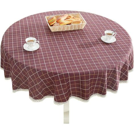 """Heavy Cotton Cotton Lace Round Lace Round Table for Kitchen Dining Kitchen Table Decoration, 48 """"- Round, Burgundy"""