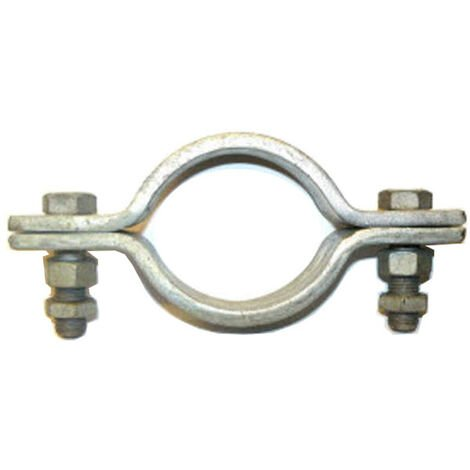 Heavy Duty 2 bolt pipe clip 220 mm ID 200 mm NB/219 mm OD Pipe Galvanised