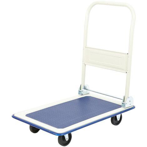 Heavy Duty 300kg Folding Platform Hand Trolley Sack Truck Cart Flat Bed Pulley