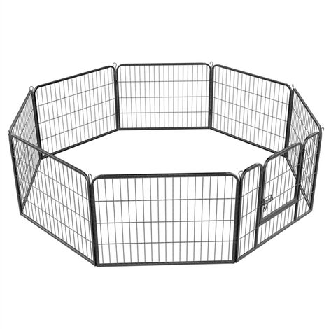 Heavy Duty 8 Panel Dog Play Pen Pet Playpen for Puppy/Rabbit/Duck/Cat Foldable Exercise Pen Indoor Outdoor