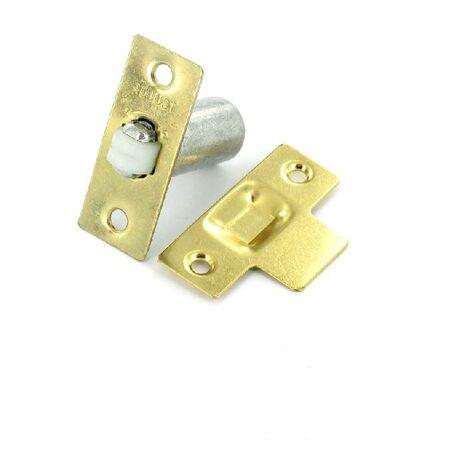 Heavy Duty Adjustable Roller Door Catch Nickel Plated