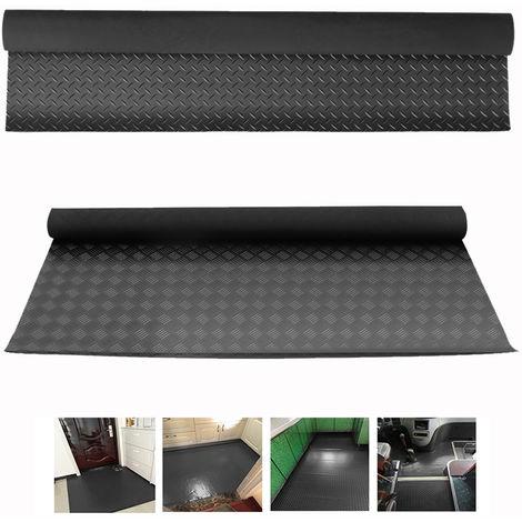 Heavy Duty Anti-Slip Textured Rubber Matting Gym Garage Flooring Matting Black
