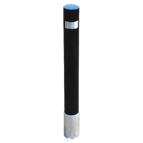 Heavy Duty Black 120 PB Removable Security Bollard with Lock (001-1460 K/D, 001-1450 K/A).