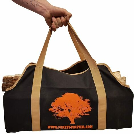 Heavy duty canvas log carrying bag durable firewood carrier basket - Various sizes