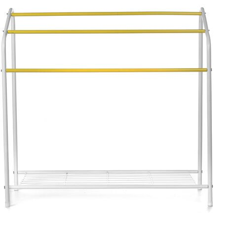Heavy Duty Clothes Drying Airer Rack Compact Sleek Shelf Organizer