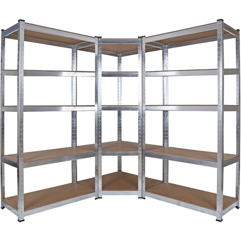Heavy Duty Corner Shelf Modular Storage XL Rack Garage Basement Cellar Racking Unit