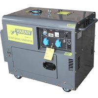 HEAVY DUTY DIESEL GENERATOR 5,5kW 230V 12VDC GENERATOR 5500W SILENT