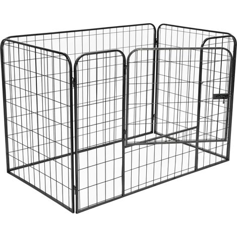 Heavy Duty Dog Playpen Black 120x80x70 cm Steel
