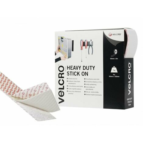 Heavy-Duty Hook & Loop Stick On Tape