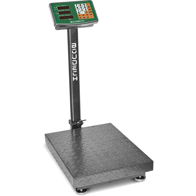 Image of Heavy Duty Industrial Digital Platform Scale 300 Kg with LCD display - Electric Warehouse Postal Scales Weighing Machine