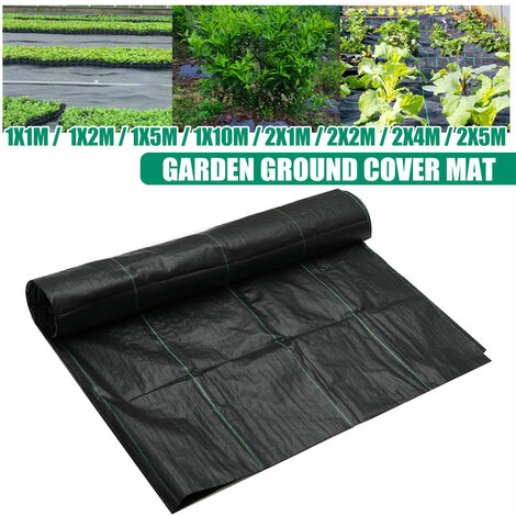 Heavy Duty Landscape Weed Control Fabric Membrane Garden Ground Cover Mat 90gsm (2mx2m)
